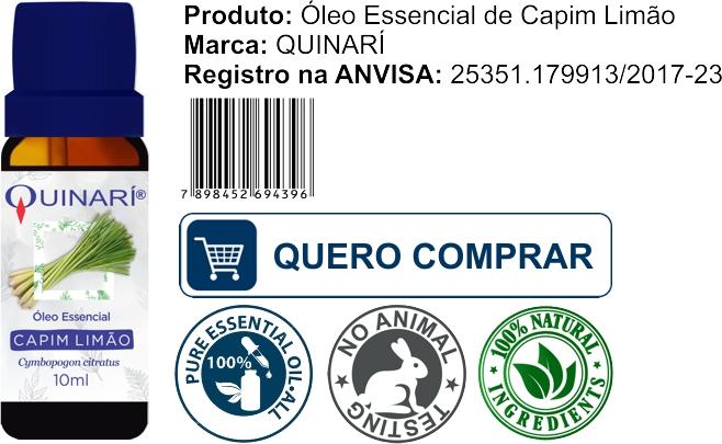 comprar oleo essencial capim limao