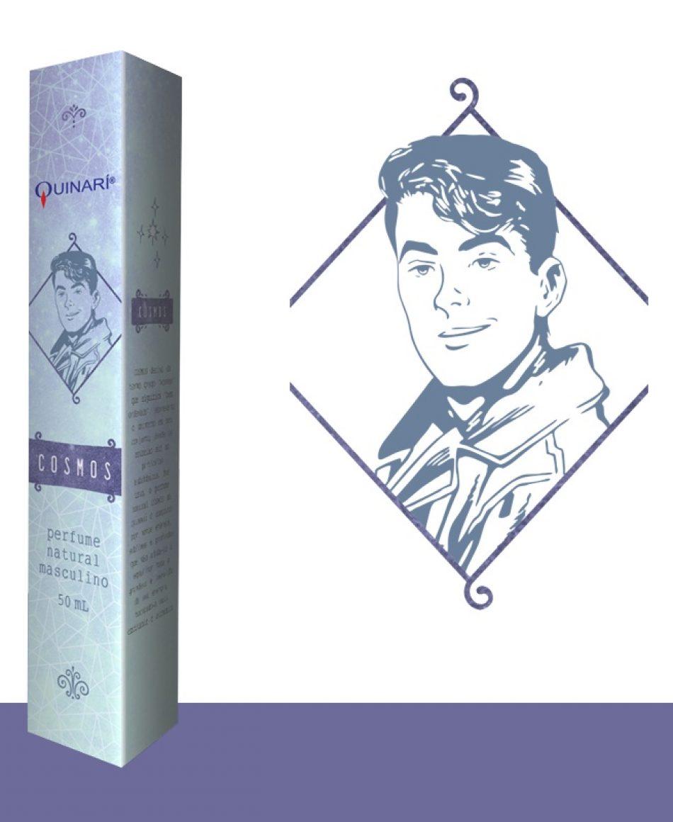COSMOS: perfume masculino vegano 100% natural da QUINARÍ com notas notas etéreas, cítricas e sublimes.
